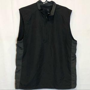 Nike Gold sleeveless quarter zip popover size L